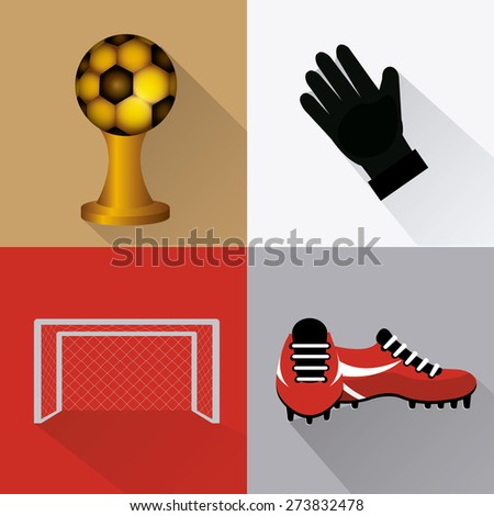 Sport design over colorful background, vector illustration. - stock vector