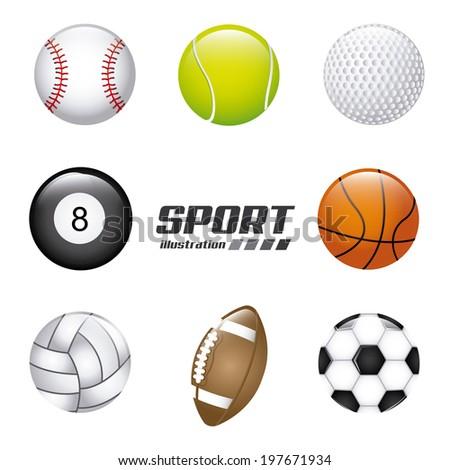 Sport design over gray background, vector illustration - stock vector