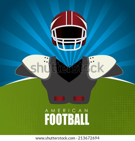Sport design over landscape background, vector illustration - stock vector