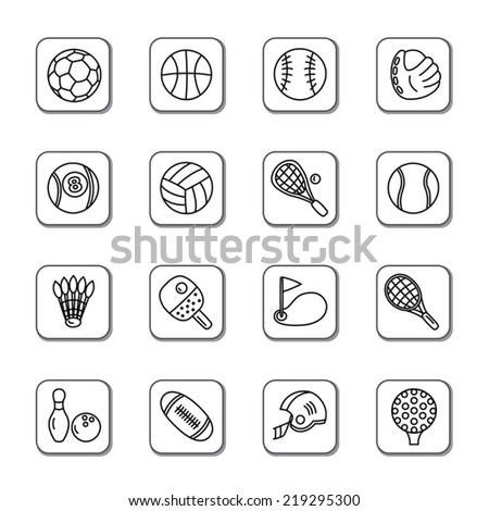 Sport Doodle Icons - stock vector
