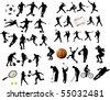 Sport elements - stock vector