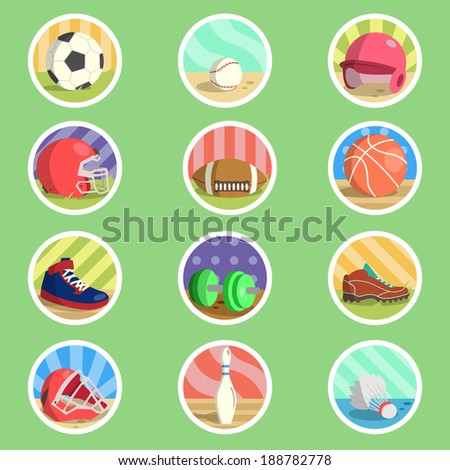 Sport Equipment Flat Icon - stock vector