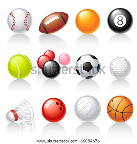 Sport equipment icons - stock vector