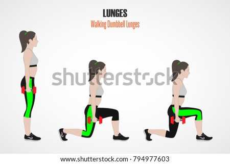 Dumbbell Lunge Stock Images, Royalty-Free Images & Vectors ...