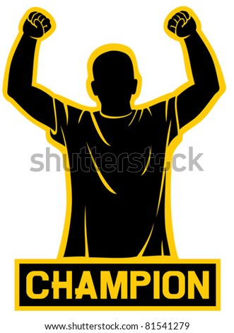 sport fan (champion design) - stock vector