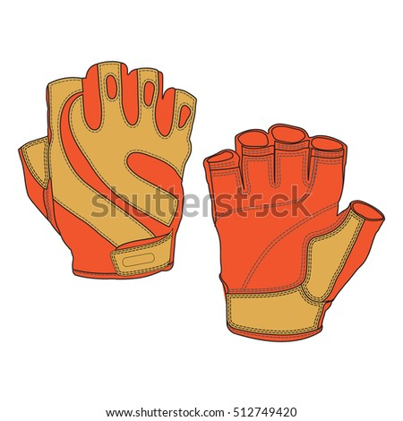 Sport Fingerless Vector Gloves