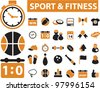 sport & fitness icons, vector - stock vector