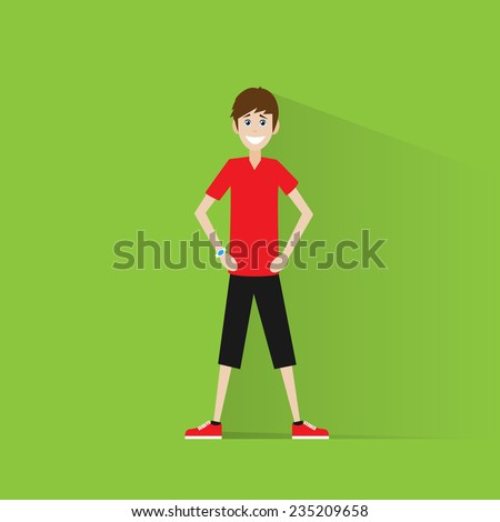 sport fitness man exercise workout flat icon vector illustration - stock vector