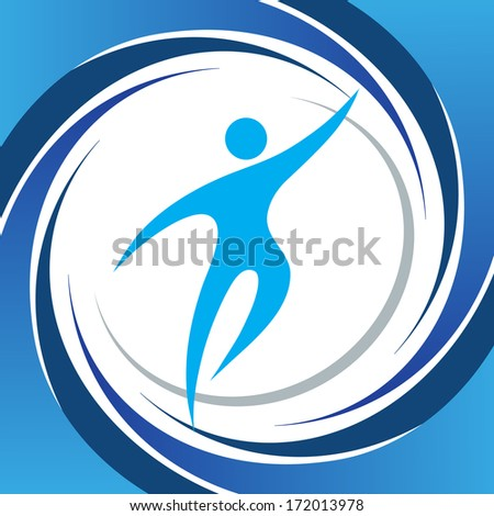 Sport fitness symbol vector element - stock vector