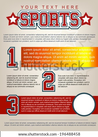 Sport Flyer Template Layout - stock vector
