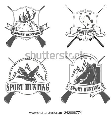 sport hunting - stock vector