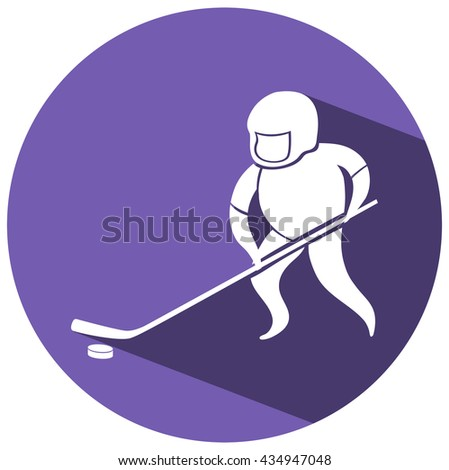 Sport icon design for ice hockey illustration