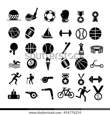 sport icon illustration design - stock vector