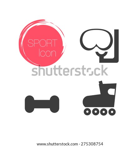 Sport icon, sport icons with white background, sport set - stock vector