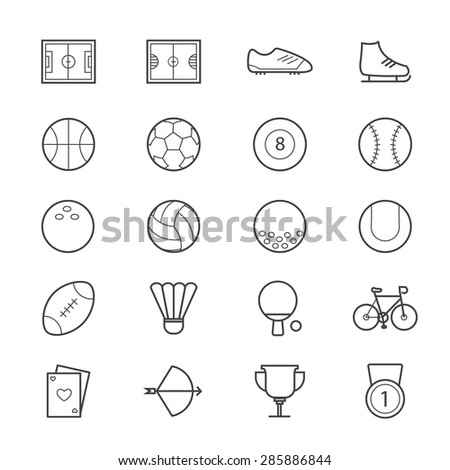 Sport Icons Line - stock vector