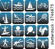 Sport icons set. - stock vector