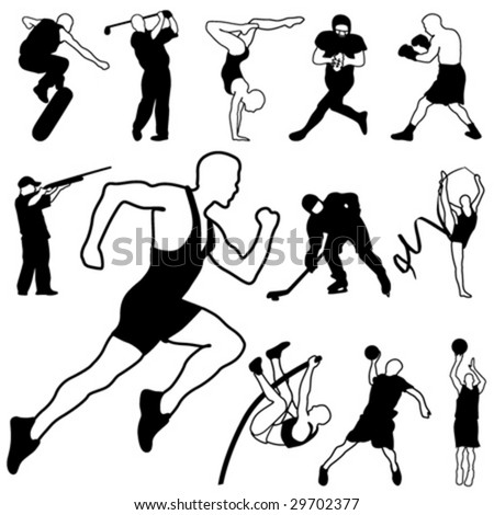 sport icons set 1 - stock vector