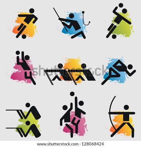 Sport icons set.Vector - stock vector