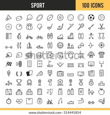 Sport icons. Vector illustration. - stock vector