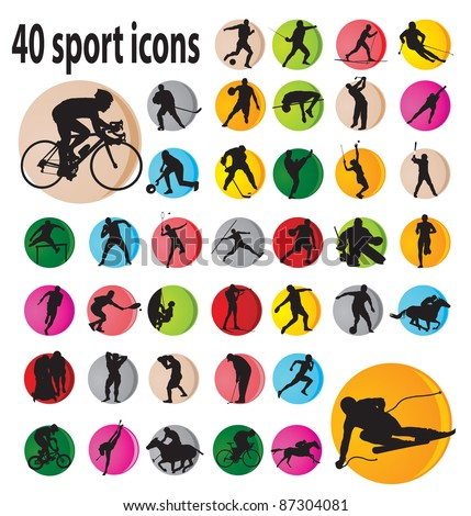 Sport icons. Vector illustration