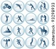 Sport Icons Vector Set #2 - stock vector