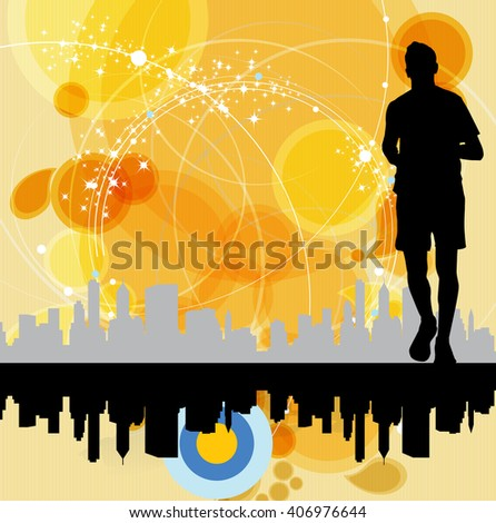 Sport illustration. Vector background - stock vector
