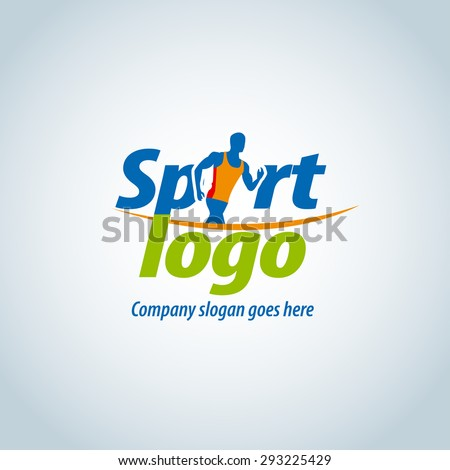 sport logotype template sports club running stock vector 2018