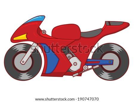 sport motorcycle - stock vector