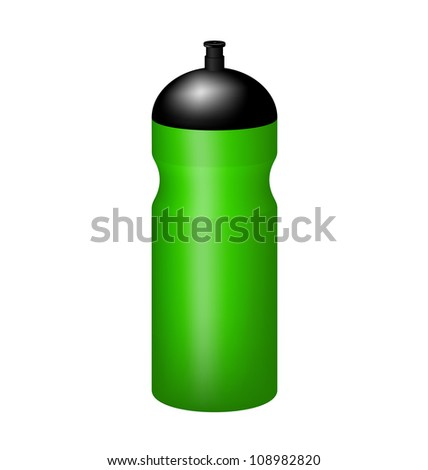Sport plastic water bottle - stock vector