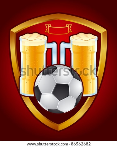 Sport pub emblem Detailed vector emblem sports pub - stock vector