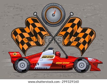 Sport race car - stock vector