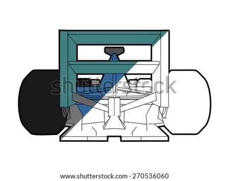 sport racing car - stock vector
