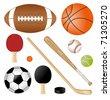sport requisites - stock vector