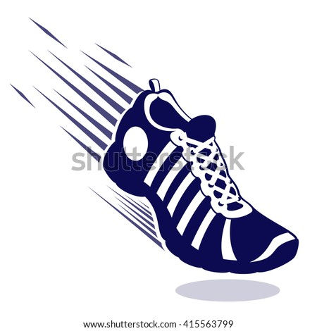 sport running shoe speed lines isolated stock vector 415563799 rh shutterstock com cartoon running shoes clipart cartoon nike running shoes