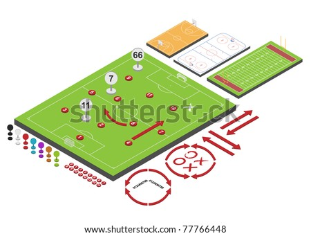 Sport schemes. Vector illustration. - stock vector