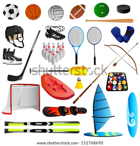 Sport set - stock vector