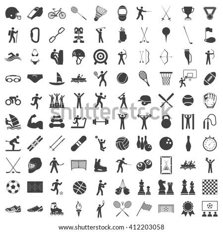 Sport Set icon, Sport Set icon eps10, Sport Set icon vector, Sport Set icon eps, Sport Set icon path, Sport Set icon flat, Sport Set icon app, Sport Set icon web, Sport Set icon art, Sport Set icon AI - stock vector