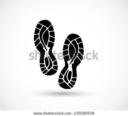 Sport shoe print vector - stock vector