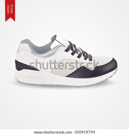 Sport Shoes isolated. Vector Sneakers for woman. - stock vector