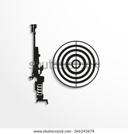Sport signs. Skeet shooting. Vector icon. - stock vector
