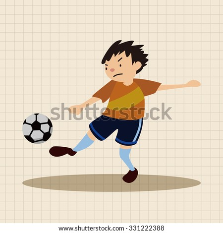 sport soccer athlete flat icon elements background,eps10