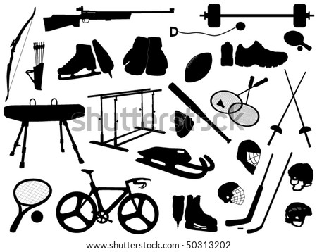 sport subject - stock vector