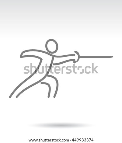 Sport Summer Games Icon logo Set. Infographics Championship concept people. Vector Image. Black sign white background