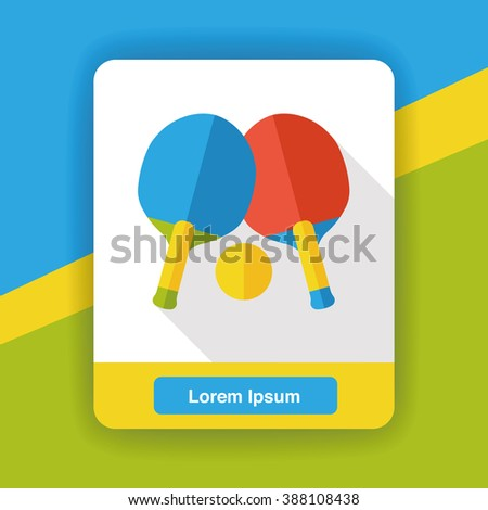 sport table tennis flat icon - stock vector