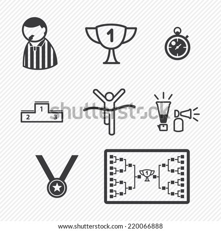 Sport Tournament icons - stock vector