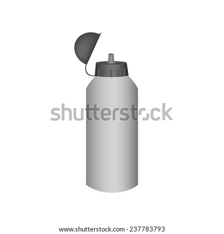 sport water bottle on a white background.Vector