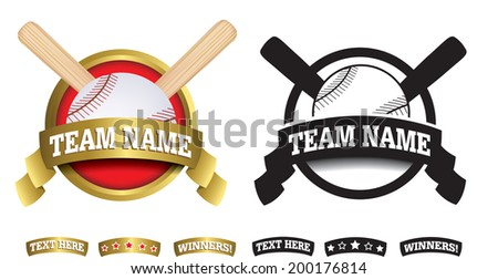 sports badge or icon isolated on a white background - stock vector
