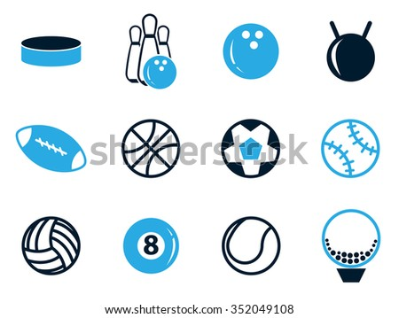 Sports Ball symbols for web icons