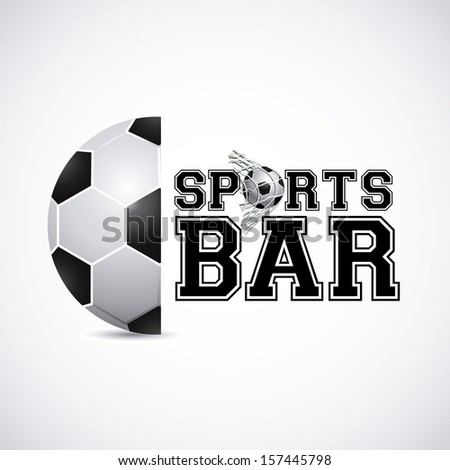 sports bar  design over gray background vector illustration   - stock vector