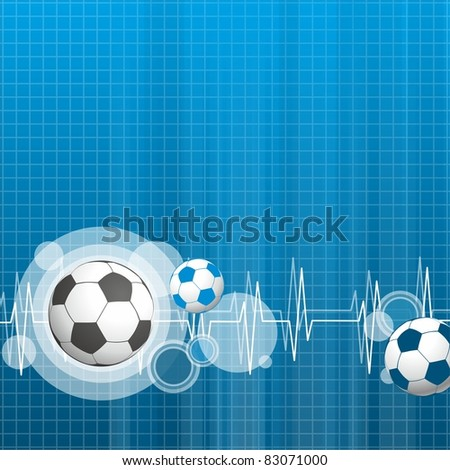 sports blue background with balls - stock vector